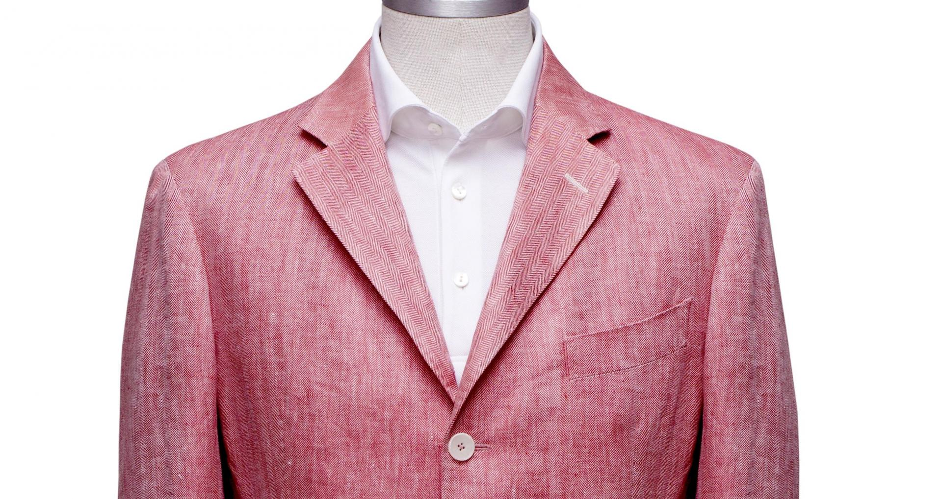 Linen Jacket red